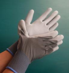灰色PU尼龙涂掌手套