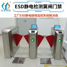 ESD防静电门禁监控系统翼闸